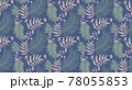 Seamless pattern with tropical leaf palm . Vector illustration. 78055853