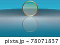 背景素材 綺麗な波紋とゴールドリング マリンブルー 78071837