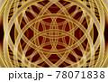 背景素材 ゴールドリングの幾何学模様 78071838