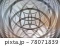 背景素材 リングの幾何学模様 玉ボケ 78071839