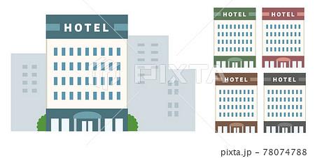 ホテルのイラスト素材 78074788