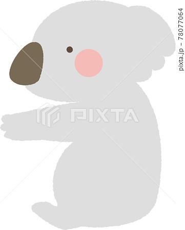 木登りをするかわいいコアラのイラスト 78077064