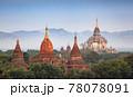 The Temples of bagan at sunrise, Bagan, Myanmar 78078091