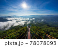 Tourist visited sea of fog in the morning,  Longest skywalk in Asia, Aiyerweng, Betong, Yala, Thailand 78078093