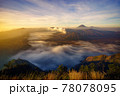 Bromo volcano at sunrise, East Java, Indonesia 78078095