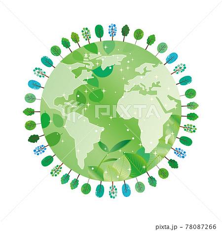 緑と地球の環境保護イメージイラスト 78087266