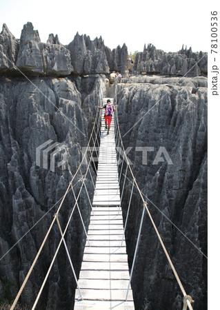 大ツィンギーの吊り橋(ベマラハ国立公園、マダガスカル) 78100536