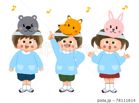 歌う園児たち 78111614