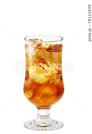 フロートグラス アイスティー イラスト リアル 78111649