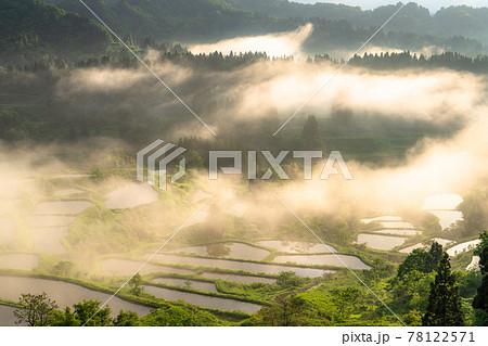 《新潟県》星峠の棚田・日本の原風景 78122571