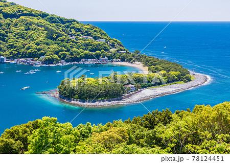 (静岡県)新緑が美しい、西伊豆戸田の御浜岬 78124451