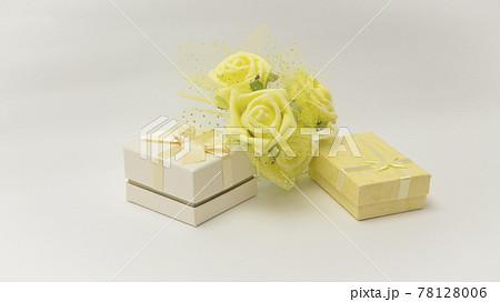 父の日ギフトと黄色いばらの花(造花) 78128006