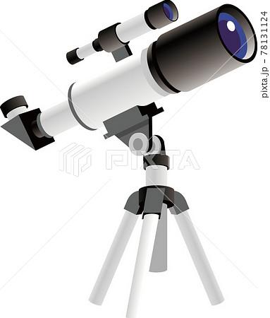 天体望遠鏡イラスト 78131124