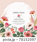 Vector illustration of a beatiful floral frame in spring for Wedding, anniversary, birthday and party. Design for banner, poster, card, invitation and scrapbook  78152097