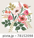 Vector illustration of a beatiful floral bouquet in spring for Wedding, anniversary, birthday and party. Design for banner, poster, card, invitation and scrapbook  78152098