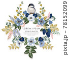Vector illustration of a beatiful floral frame for Wedding, anniversary, birthday and party. Design for banner, poster, card, invitation and scrapbook  78152099