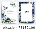 Vector illustration of a beatiful floral frame set for Wedding, anniversary, birthday and party. Design for banner, poster, card, invitation and scrapbook  78152100