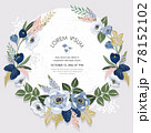 Vector illustration of a beatiful floral frame for Wedding, anniversary, birthday and party. Design for banner, poster, card, invitation and scrapbook  78152102