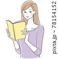 本を読む女性 78154152