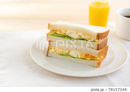 卵サンド 78157349