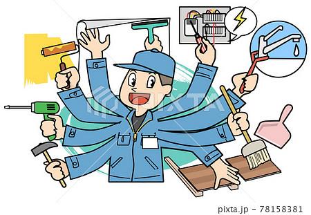 多機能工-工事関連を何でも行える作業員 78158381