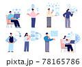 Successful time management. Productivity, organization times set. Calendar on workflow, success employee. Business schedule utter vector concept 78165786