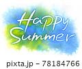 Happy Summer 筆タイトル・ポストカード 78184766