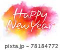 Happy New Year 筆タイトル・ポストカード 78184772