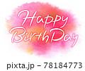 Happy Birthday 筆タイトル・ポストカード 78184773