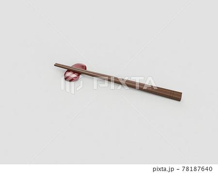 箸と箸置き 78187640