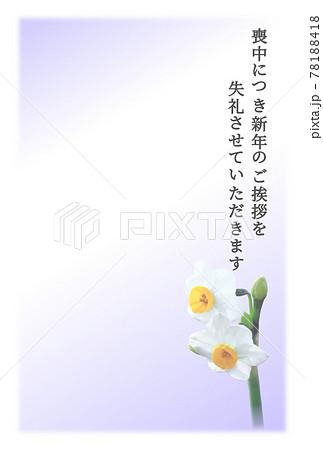 喪中 スイセン 紫 78188418