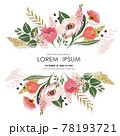 Vector illustration of a beatiful floral frame in spring for Wedding, anniversary, birthday and party. Design for banner, poster, card, invitation and scrapbook  78193721