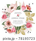 Vector illustration of a beatiful floral frame in spring for Wedding, anniversary, birthday and party. Design for banner, poster, card, invitation and scrapbook  78193723