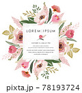 Vector illustration of a beatiful floral frame in spring for Wedding, anniversary, birthday and party. Design for banner, poster, card, invitation and scrapbook  78193724