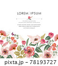 Vector illustration of a beautiful floral frame for Wedding, anniversary, birthday and party. Design for invitation card, picture frame, poster, scrapbook  78193727
