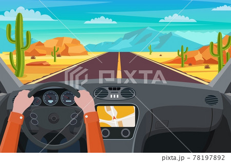 Road in desert 78197892