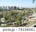 日本の公園の風景:兵庫県明石市の明石城跡の明石公園及び明石市街地 78198061