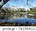 日本の庭園:天王寺公園にある大阪市指定文化財林泉回遊式日本庭園の慶沢園 78199412