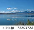 コロラド川沿いのグランドレイク湖の広大な景色です。湖に反転して映る青空が絶景です 78203728