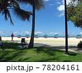 常夏の国ハワイの時の止まった海岸の風景 78204161