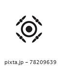 Drone technology logo design template 78209639
