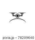 Drone technology logo design template 78209640