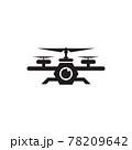 Drone technology logo design template 78209642