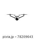 Drone technology logo design template 78209643