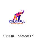 Elephant safari logo design template 78209647