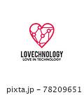 Love technology logo design template 78209651