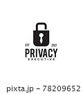 Padlock tie logo design template 78209652