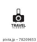 Travel bag with camera logo design template 78209653