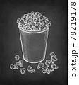Chalk sketch of popcorn. 78219178