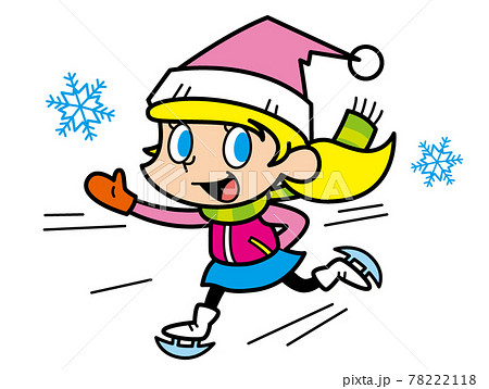 スケートする女の子 78222118